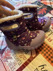 toddler bogs pegasus winter boots purple euc girls size 8