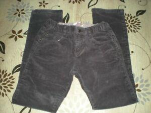 Pantalon velours côtelé fille - Couleur violine/aubergine - 10 ans