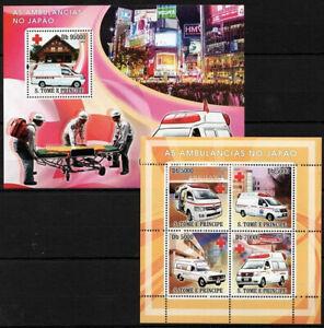 Sao Tome 2008 MNH MS+SS, Ambulance in Japan, Medicine
