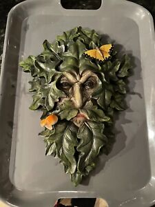 Large green man plaque Wiccan witch Latex Rubber Mould mold Pagan Crafts