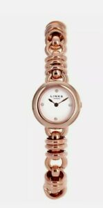 BRAND NEW GENUINE LINKS OF LONDON SWEETIE 18CT ROSE GOLD PLATED WATCH-FOUR WHITE
