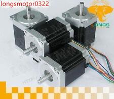 【US Free Ship】4pcs Nema34 Stepper Motor 1232OZ-IN,5.6A for cnc router kit LONGS