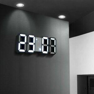Upgrade Digital 3D LED Wall/USB Desk Clock Alarm Big Digits Auto Brightness Best