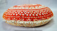 "Indian 32"" Floor Pillow Cover Cotton Mandala Large Meditation Cushion Pouf New 3"