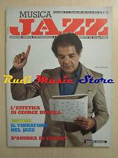 Rivista MUSICA JAZZ 11/1983 George Russell Earl baker Claudio Fasoli  NO cd
