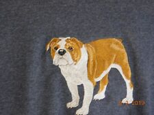 NEW  FULL BODY VIEW BULLDOG EMBROIDERED T-SHIRT ADD NAME FOR FREE