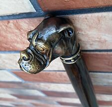 Bronze Dog Cane Walking Stick Wooden Wood Handmade Men's Accessories Cane NEW
