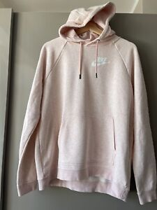 NIKE  Pink Classic Pullover Hoodie Womens L Very Good Condition.