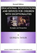 Educational Interventions and Services for Children With Exceptionalities: Strat