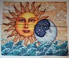 "Hippie Bohemian Sun Moon Tapestry Wall Hanging Decor 59""x 51"" USA SELLER NEW"