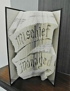 Book folded gift Mischief Managed Harry Potter Marauders Map