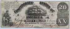 T-18 $20. Confederate States of America Note Low S/N Awesome