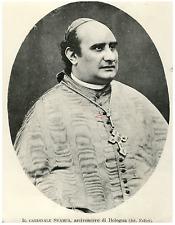 Cardinale Svampa, arcivescovo di Bologna Vintage silver print Tirage argentiqu