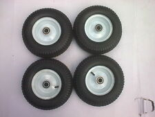 "4 x 12"" pneumatic wheels 20MM centre hub for trolley barrow cart medium  duty"