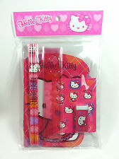Sanrio Hello Kitty Writing Pack (include:notebook,stickers,pencils,eraser,ruler)