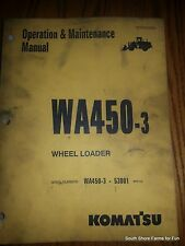 Komatsu Wa450-3 Operators Manual Asn Seam020900 Wheel Loader