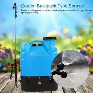 4.2 Gallon Battery Electric Pump Sprayer Powered Backpack Sprayer 2 Nozzles