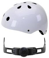 VENTURA Freestyle BMX Helm Skatehelm Skaterhelm Weiß Gr. M 54-58cm NEU 731183