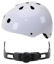 VENTURA Freestyle BMX Casco de skate patinador Blanco Talla M 54-58cm 731183