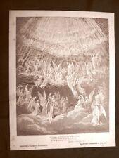 Incisione di Gustave Dorè 1890 San Pietro contro Papi Divina Commedia Paradiso