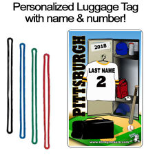 Personalized Pittsburgh Baseball Luggage Tag