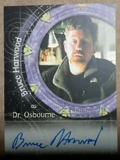 Stargate SG-1 Autograph Card - A30 Bruce Harwood  (Dr. Osborne)