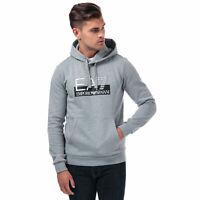 Mens Emporio Armani Ea7 Visibility Logo Hooded Sweatshirt In Grey