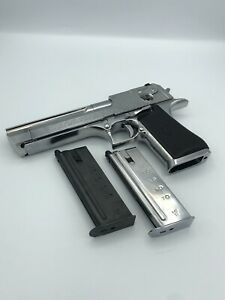 tokyo marui airsoft GAS pistol desert eagle chrome stainless With 2 Mags #E6
