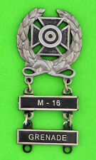 Army Expert Marksmanship Badge with  M-16 and GRENADE Qualification Bars