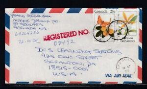 GRENADA Registered Cover St. George's to Scranton, PA 14-4-1998 Cancel