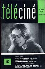 Revue téléciné 1963 Procès de Jeanne d'Arc Mourir à Madrid. L'ange exterminateur