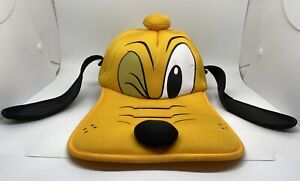 Pluto Cap Hat Adult Fitted One Size Yellow 100% Polyester Ear Flaps