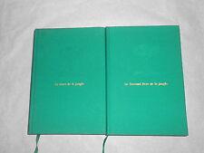 Lot de 2 Rudyard Kipling Le LIVRES de la JUNGLE & le Second Livre de la Jungle