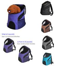 UK Dog Cat Soft-Sided Carrier Bag Pet Backpack Washable Rear Breathe Mesh Window
