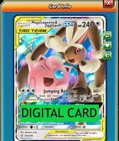 Mega Lopunny /& Jigglypuff GX AFA FULL ART Pokemon TCG Online PTCGO FAST 226//236