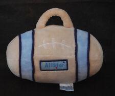 "All Star Football Baby Boy Rattle Blue Tan Carters Infant Crib Plush 7"" Toy"