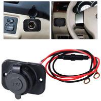 12-24V Car Cigarette Lighter Socket Outlet Charger Power Adapter Plug Waterproof