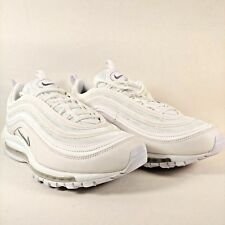 5b09606ab6 Nike Mens Air Max 97 Triple White Wolf Grey Sneakers Mens Size 12