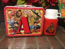 WOW!! Vtg.1983 The A-Team Metal Lunch Box And Thermos Clean Good Graphics