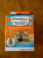 ThunderEase Diffuser for Multi Cat Calming Pheromone Refill Expires 2/2022 New