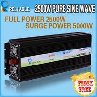 5000W Peak Pure Sine Wave Inverter 2500W Power Inverter 12/24/48vdc to 120/230V