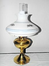 GONE WITH THE WIND VINTAGE B&H BRASS ELECTRIC OIL BURNER HURRICANE MANTLE LAMP