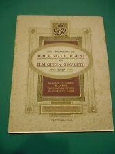 1937 CIGARETTE CARD ALBUM,CORONATION OFHM KING GEORGE VI & HM QUEEN ELIZABETH