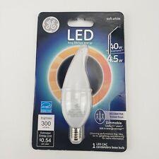 GE LED Light Bulbs Soft White 40w/4w Chandelier Bulb 37865 Decorative Led CAC