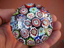 """2 1/2"""" X 1 7/8"""" MILLEFIORI PAPERWEIGHT beautiful rods UNKNOWN MAKER AND COUNTRY"""