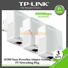 TP-LINK AV500 Nano Powerline Adapter Gaming TV Networking Plug TL-PA4010 X 3