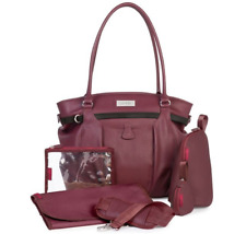 Brand new in bag Babymoov glitter changing bag in Cherry with accessories