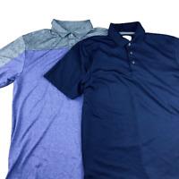 Ben Hogan Short Sleeve Polo Shirt, Lot of 2, Size Medium, Gold, Casual, Collared