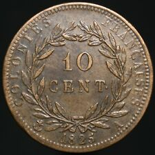 More details for 1825 a | french colonies charles x 10 centimes | bronze | coins | km coins