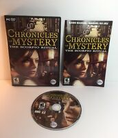 PC DVD-ROM Chronicles Of Mystery The Scorpio Ritual